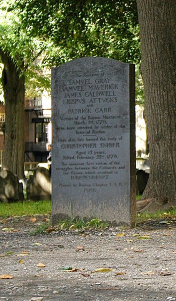A BOSTON MASSACRE GRAVE
